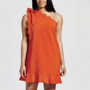 Nwt 2x Victoria Beckham dress mini orange ruffle